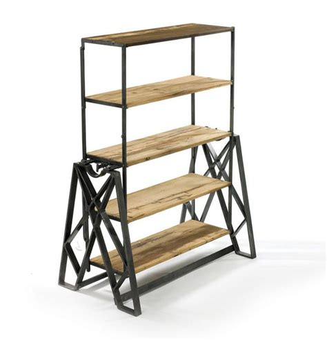 Reclaimed Wood Bookcase Coup De Cœur Un Meuble Qui Se Transforme En Table Ou En