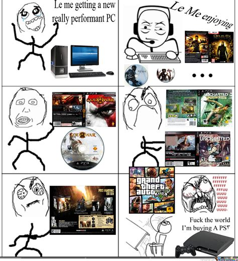 next console vs pc pc vs ps3 by euh meme center