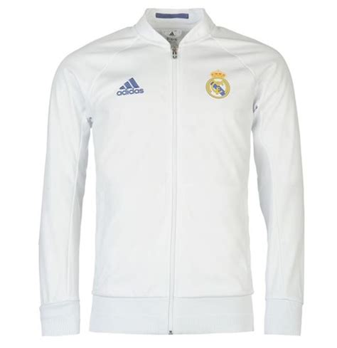 Parka Bola Real Madrid Army 2016 2017 real madrid adidas anthem jacket white for only 163 70 29 at merchandisingplaza uk