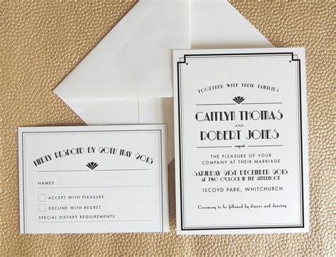 deco themed wedding invitations wedding invitations deco sunshinebizsolutions