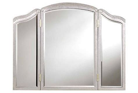 Tri Fold Bathroom Wall Mirror Huntington Tri Fold Wall Mirror Silver