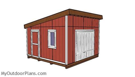 14x14 Shed Plans by 14x14 Lean To Shed Plans Myoutdoorplans Free