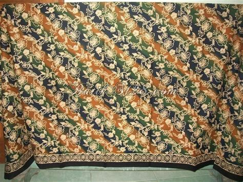 Kbt037 Batik Katun Tulis Bahan Atasan Kain Bawahan Kebaya Wanita bahan batik cap terbuat dari katun halus untuk dibuat
