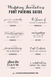 wedding invitation font pairing guide michellehickey design
