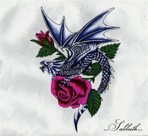 rose dragon tattoo dragons and roses tattoos with roses by inky