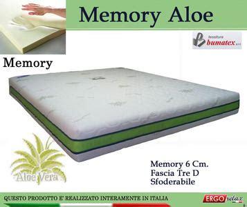 materasso memory aloe materassi memory foam waterlily certificati italiani
