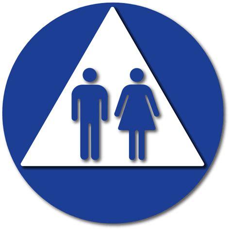 unisex bathrooms in california unisex restroom door ada ca title 24 signs 12 quot x 12 quot adasigndepot com