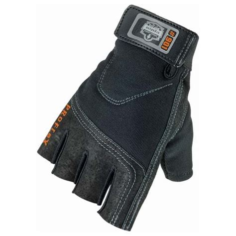 Glove Mpact Half Fingger Od ergodyne 174 proflex 174 half finger impact gloves