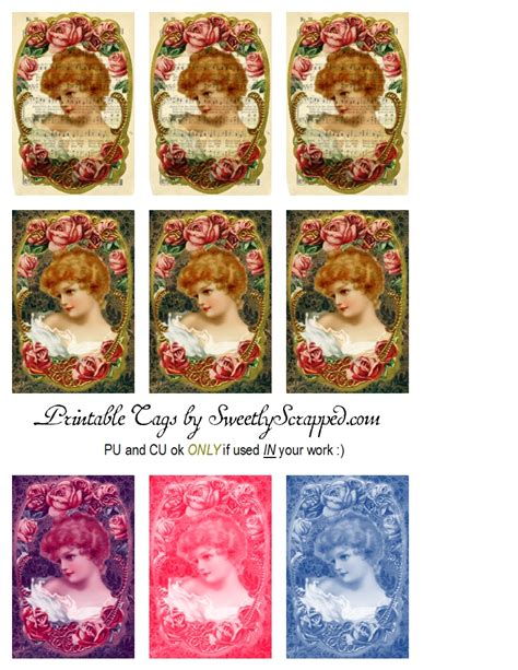 printable victorian tags sweetly scrapped free printable victorian lady tags