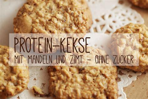 protein kuchen protein kekse mit mandeln und zimt ohne zucker rezept