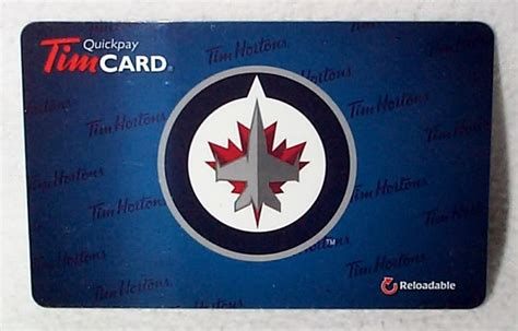 Nhl Gift Card - tim hortons 2012 nhl winnipeg jets in store tim card note those in stores did not