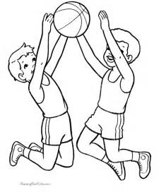 coloring pages sports basketball collections