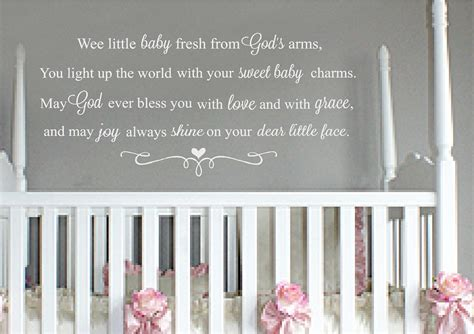 Childrens Bedroom Stickers For Walls nursery wall quotes baby quotes sweet sayings for baby