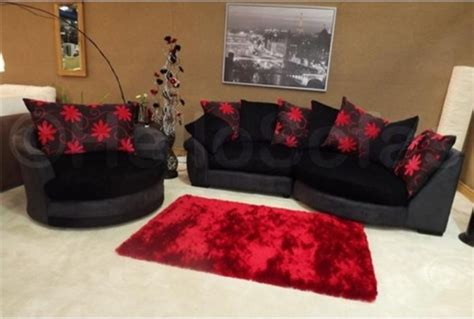 Black Fabric Sectional Sofa With Chaise Waltzer Black Chaise Fabric Sofa Modern Sofas Other