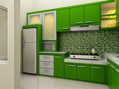 warna kitchen set yg bagus 21 model desain kitchen sets hijau