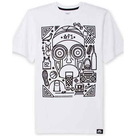 lyst nike air 1 graphic tshirt in white for