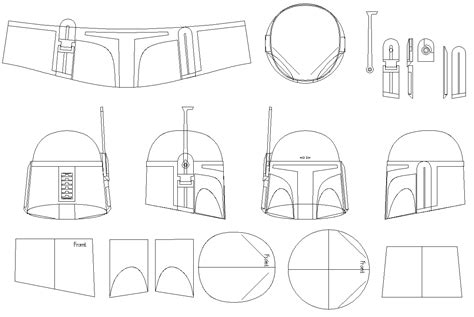 mandalorian armor template boba fett helmet blueprints templates wars because