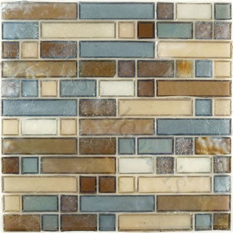 sagebrush unique shapes brown backsplash glossy and