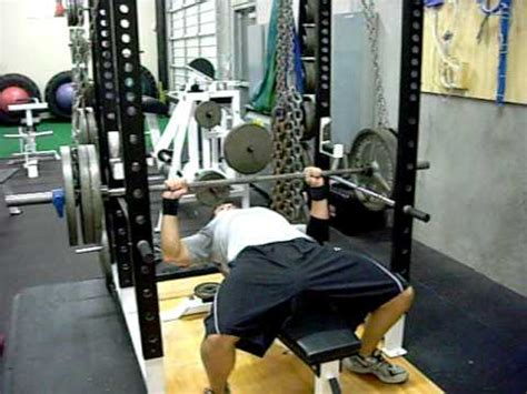chain bench press suspended chain lockout bench press www trainatp com youtube