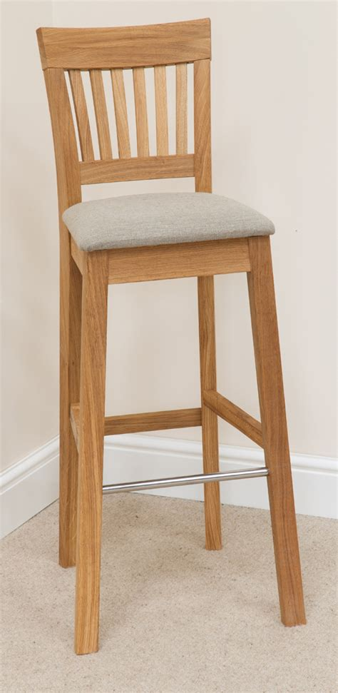 bar stool 088 solid oak beige fabric bar stools bar