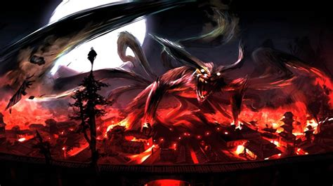 wallpaper laptop background naruto naruto nine tails wallpapers wallpaper cave