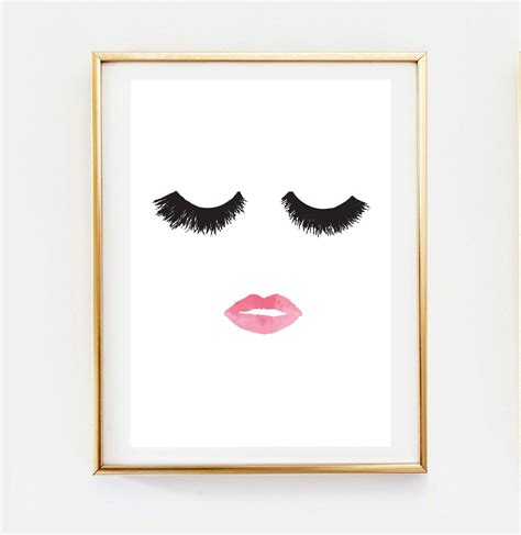 makeup print wall decor home decor wall minimalist
