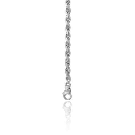 cadenas de oro blanco cadena cuerda 55 00cm oro blanco 18k ocarat