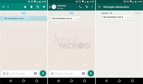 imagenes whatsapp en blanco c 243 mo destacar un mensaje en whatsapp para android
