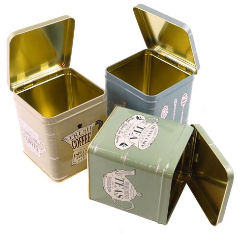 shabby chic canisters set of 3 coffee tea sugar hinged lid canisters retro