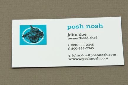 Posh Business Card Template by Posh Nosh Business Card Template Inkd
