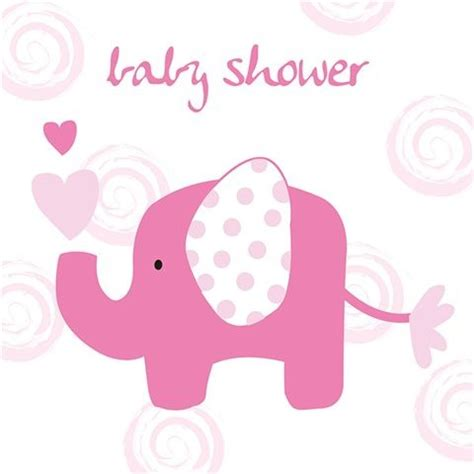 Pink Elephant Baby Shower by Pink Elephant Baby Shower Greeting Card
