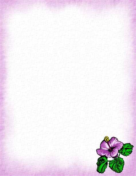 Floral Stationery Theme Free Page 1 Floral Stationery Template