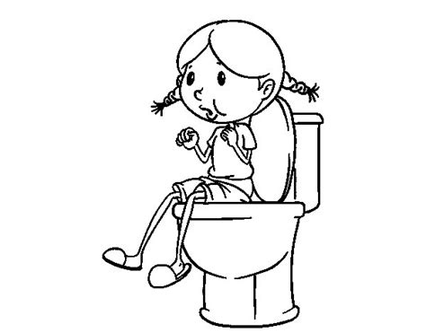 disegni di bagni disegno di utilizzare il bagno da colorare acolore