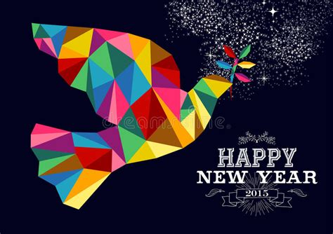 new year 2015 card vector new year 2015 peace dove card stock vector image 48077931