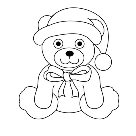 christmas bear picture christmas bear coloring page