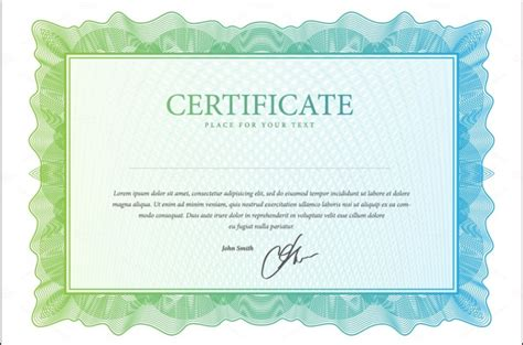 10 blank certificate template psd word eps and indesign