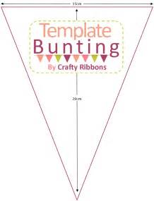 sided bunting template crafty ribbons summer bunting week no sew