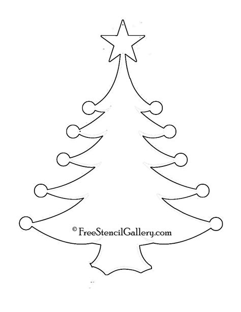28 best christmas tree stencil printable christmas
