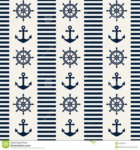 nautical pattern vector nautical seamless pattern vector illustration stock
