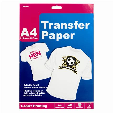 printable fabric transfer paper 2 4 8 sheets a4 t shirt transfer paper ink jet iron on