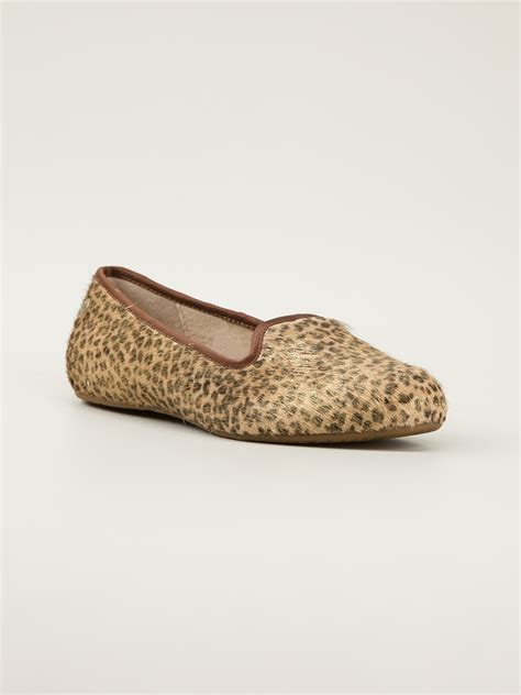 leopard print slippers ugg leopard print slippers in animal brown lyst