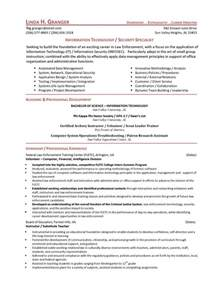 Information Systems Specialist Sle Resume by It Security Specialist Resume