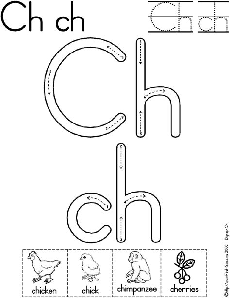 Ch Worksheets by Digraph Ch Worksheet Preschool Worksheets