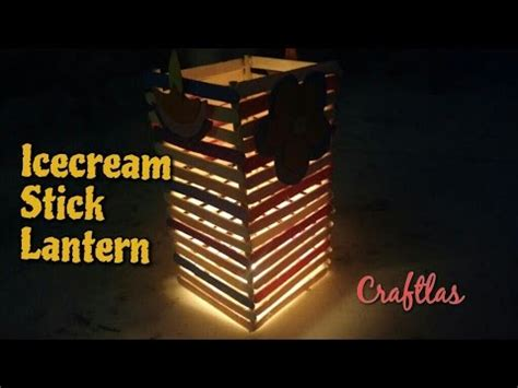 Ice Cream Sticks Craft For Kids - popsicle stick craft lamp for kids craft activity youtube