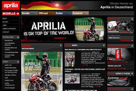 Aprilia Motorräder 2013 by Aktuelle Referenzprojekte Webandmore