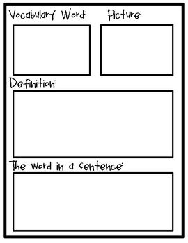 vocabulary journal template vocabulary journal dictionary school