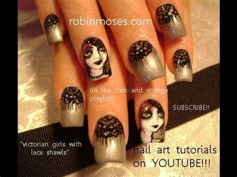 halloween nail art tutorial youtube 3 halloween nail art tutorials diy gothic girls with