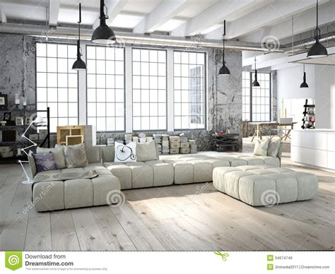 modern loft living room living room stock illustration image of parquet modern 34674749