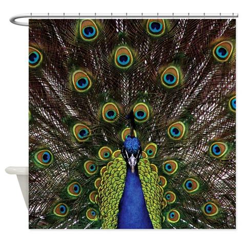 Peacock Color Curtains Peacock Shower Curtain By Expressivemind