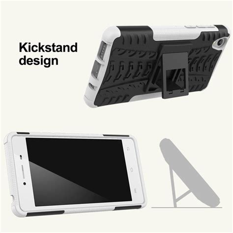 hybrid dazzle phone cover for vivo y51 kickstand shockproof back cover for vivo y51 2 in 1